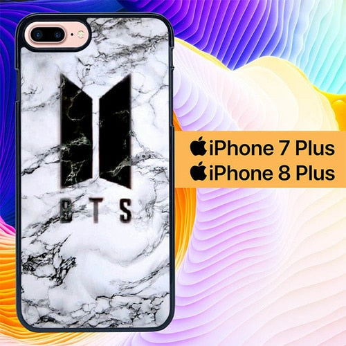 BTS Marbel L2768 hoesjes iPhone 7 Plus , iPhone 8 Plus