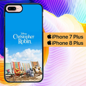 Christopher Robin in The Sea L2769 hoesjes iPhone 7 Plus , iPhone 8 Plus