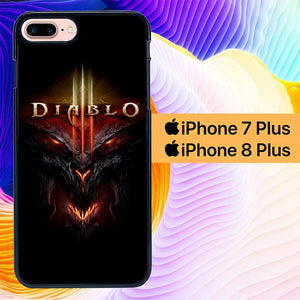 Diablo Cover L2789 hoesjes iPhone 7 Plus , iPhone 8 Plus
