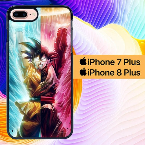 Spirit Bomb Split Goku L2818 hoesjes iPhone 7 Plus , iPhone 8 Plus