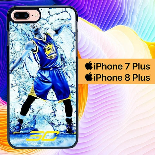 Stephen Curry Water L2835 hoesjes iPhone 7 Plus , iPhone 8 Plus