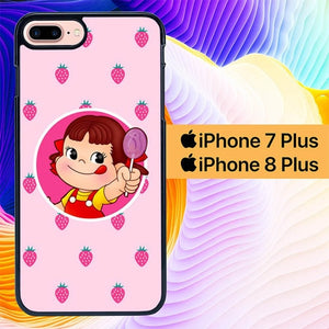 Strawberry Little Girl L2938 hoesjes iPhone 7 Plus , iPhone 8 Plus