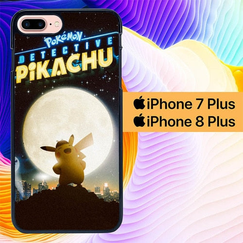 Detective Pikachu Pokemon L2971 hoesjes iPhone 7 Plus , iPhone 8 Plus