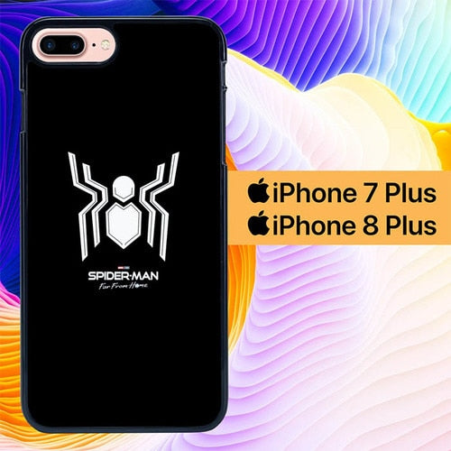 Spiderman Logo Far From Home L2980 hoesjes iPhone 7 Plus , iPhone 8 Plus