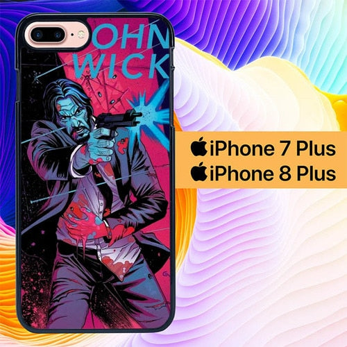 John Wick L2989 hoesjes iPhone 7 Plus , iPhone 8 Plus