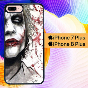 Joker Face Serious L2991 hoesjes iPhone 7 Plus , iPhone 8 Plus