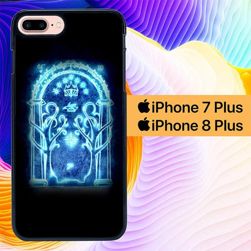 The Lord of The Rings Moria Gate L3029 hoesjes iPhone 7 Plus , iPhone 8 Plus