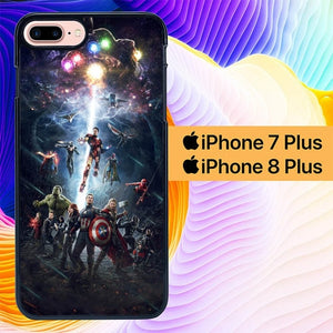 Avengers L3043 hoesjes iPhone 7 Plus , iPhone 8 Plus
