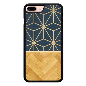 Astral Metallic Geometry Wood L3048 hoesjes iPhone 7 Plus , iPhone 8 Plus
