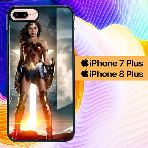 Justice League Wonder Woman L3059 hoesjes iPhone 7 Plus , iPhone 8 Plus