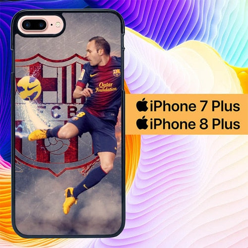 Andres Iniesta Legend L3072 hoesjes iPhone 7 Plus , iPhone 8 Plus