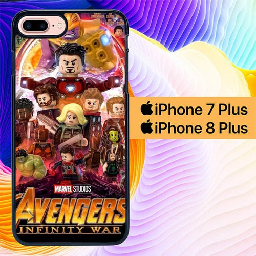 Avengers Infinity Wars Lego L3075 hoesjes iPhone 7 Plus , iPhone 8 Plus