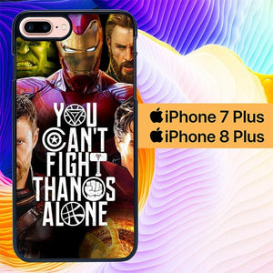 Avengers You Cant Fight Thanos Alone L3077 hoesjes iPhone 7 Plus , iPhone 8 Plus
