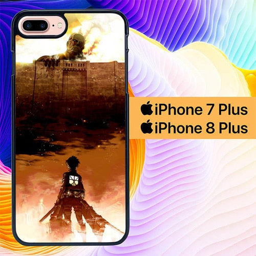 Attack on Titan L3094 hoesjes iPhone 7 Plus , iPhone 8 Plus