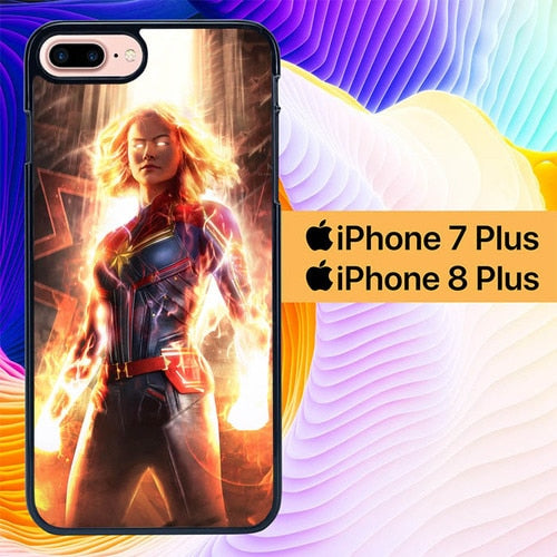 Captain Marvel L3103 hoesjes iPhone 7 Plus , iPhone 8 Plus