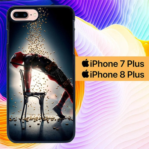 Deadpool 2 L3119 hoesjes iPhone 7 Plus , iPhone 8 Plus