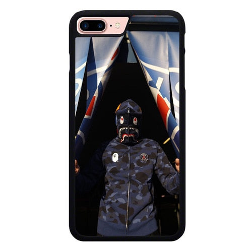 Bape X PSG L3133 hoesjes iPhone 7 Plus , iPhone 8 Plus