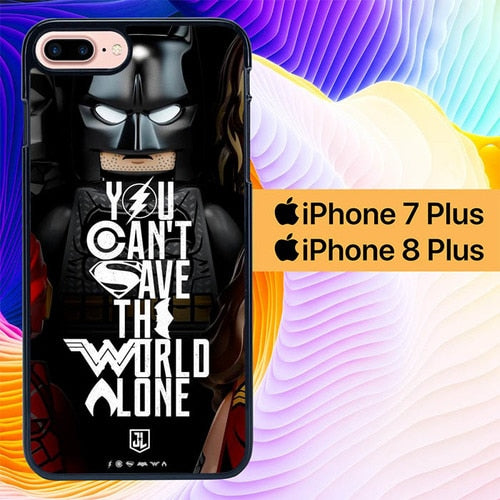 Justice League Lego L3137 hoesjes iPhone 7 Plus , iPhone 8 Plus