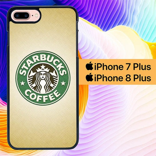 Starbucks Logo L3189 hoesjes iPhone 7 Plus , iPhone 8 Plus
