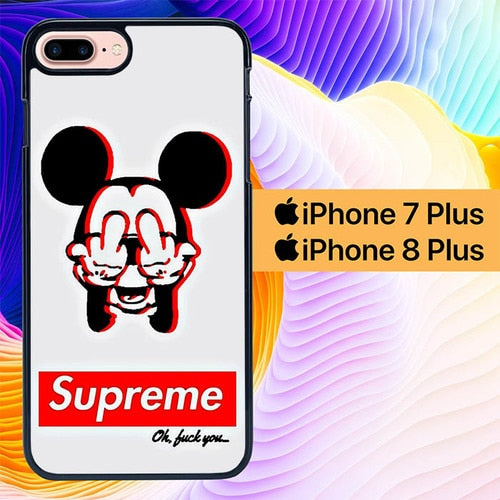 Supreme Mickey L3195 hoesjes iPhone 7 Plus , iPhone 8 Plus