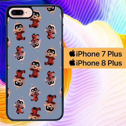 The Incridible Baby Pattern L3201 hoesjes iPhone 7 Plus , iPhone 8 Plus