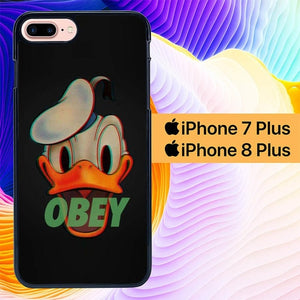 Obey Donald Duck L3245 hoesjes iPhone 7 Plus , iPhone 8 Plus