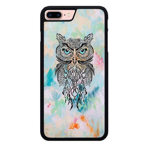 Owl Abstract L3270 hoesjes iPhone 7 Plus , iPhone 8 Plus