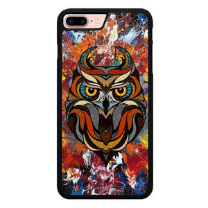 The Geometric Abstract Owl L3273 hoesjes iPhone 7 Plus , iPhone 8 Plus
