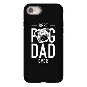mens best pug dad ever cool cute fathers day gift funny iphone 8 hoesjes