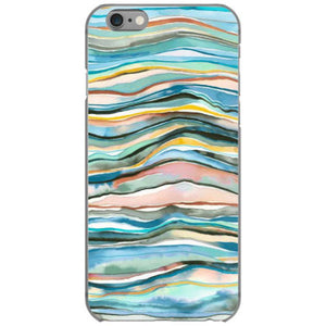 mineral agate watercolor colorful iphone 6 6s hoesjes
