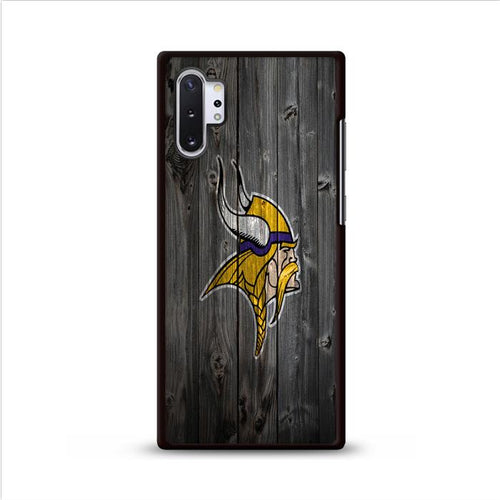Viking Grey Wooden Samsung Galaxy Note 10 Plus hoesjes