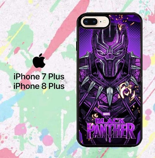 Black Panther W8631 hoesjes iPhone 7 Plus , iPhone 8 Plus