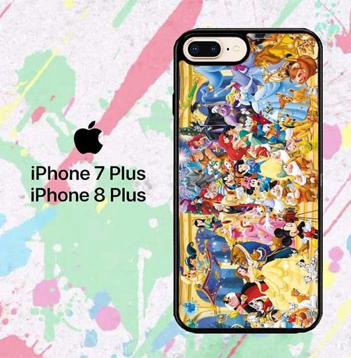disney all characters W8751 hoesjes iPhone 7 Plus , iPhone 8 Plus
