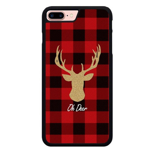 Oh Deer Gold W9133 hoesjes iPhone 7 Plus , iPhone 8 Plus