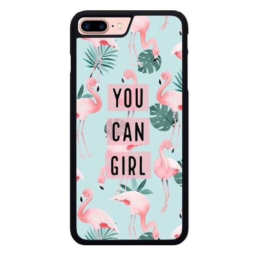 YOU CAN GIRL W9143 hoesjes iPhone 7 Plus , iPhone 8 Plus