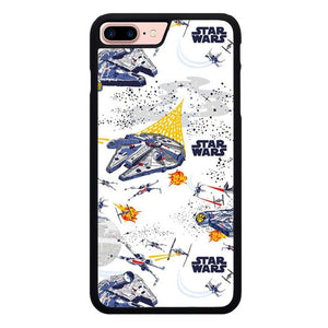 star wars W9208 hoesjes iPhone 7 Plus , iPhone 8 Plus
