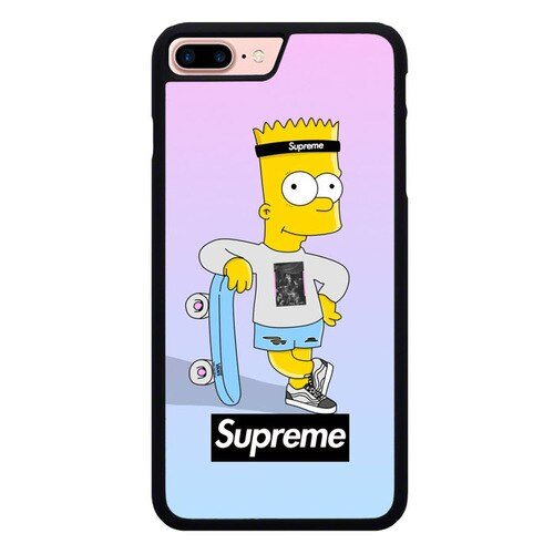 SUPREME SIMPSON W9348 hoesjes iPhone 7 Plus , iPhone 8 Plus