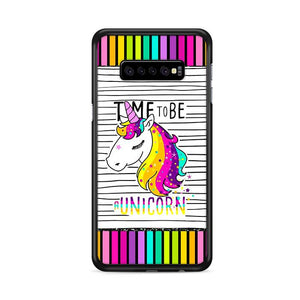 Time To Be A Unicorn Colorful Samsung Galaxy S10e hoesjes
