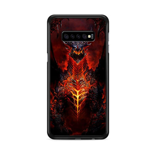 World of Warcraft Deathwing Dragon Samsung Galaxy S10e hoesjes