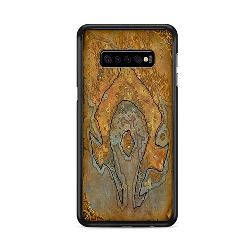 World of Warcraft Tribal Horde Map Samsung Galaxy S10e hoesjes