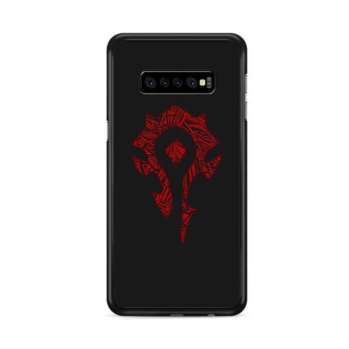 World of Warcraft Tribal Horde Samsung Galaxy S10 Plus hoesjes