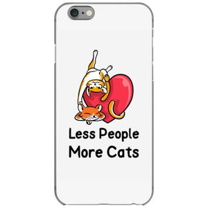 t shirt less people more cats iphone 6 6s hoesjes