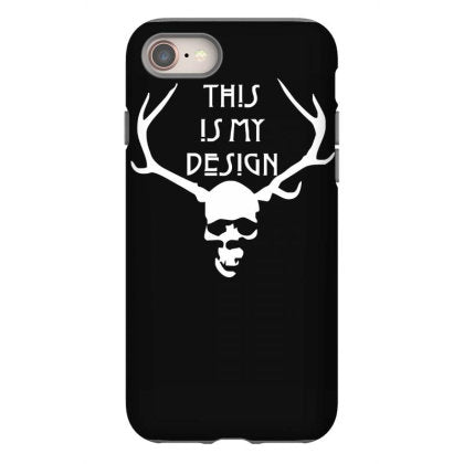 this is my design funny retro hannibal season horror vintage iphone 8 hoesjes