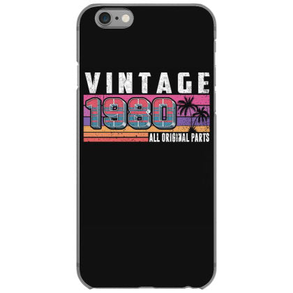 vintage 1980 birthday all original parts iphone 6 6s hoesjes