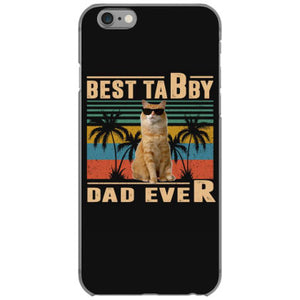 vintage best cat dad ever tabby funny fathers day iphone 6 6s hoesjes