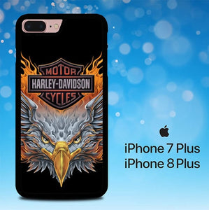 Motor Harley Davidson Eagle Logo P0370 hoesjes iPhone 7 Plus , iPhone 8 Plus