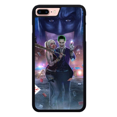 Joker And Harley Quinn Couple P1883 hoesjes iPhone 7 Plus , iPhone 8 Plus