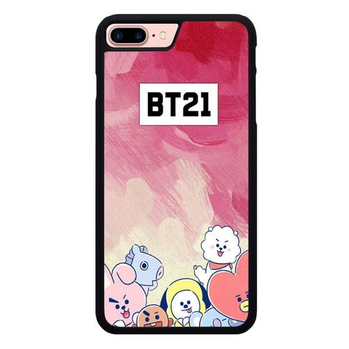BTS BT21 Watercolor P1898 hoesjes iPhone 7 Plus , iPhone 8 Plus