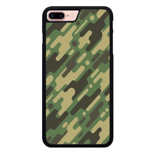 Camo Army Flat P1950 hoesjes iPhone 7 Plus , iPhone 8 Plus