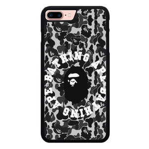 Bape Grey Camo P1962 hoesjes iPhone 7 Plus , iPhone 8 Plus